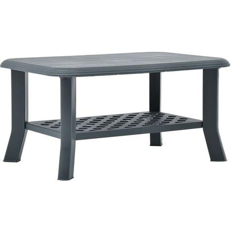 Coffee Table Green 90x60x46 cm Plastic - Green