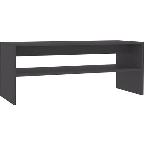 Coffee Table Grey 100x40x40 cm Chipboard