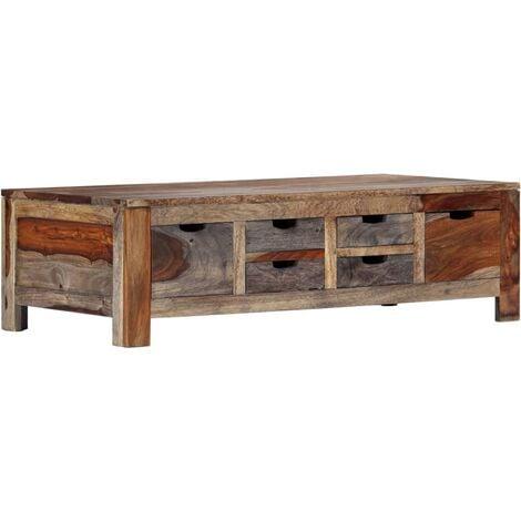 Coffee Table Grey 100x55x30 cm Solid Sheesham Wood