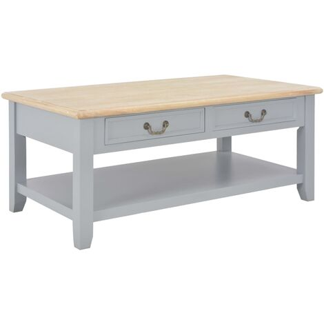 Coffee Table Grey 100x55x40 cm Wood