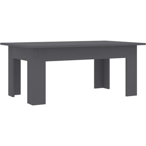 Coffee Table Grey 100x60x42 cm Chipboard