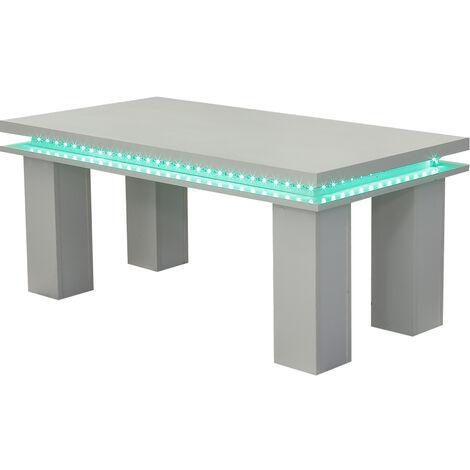 Coffee Table High Gloss RGB LED Sofa Side Table 105*55*45cm