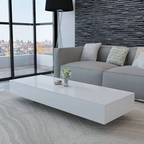 Coffee Table High Gloss White - White