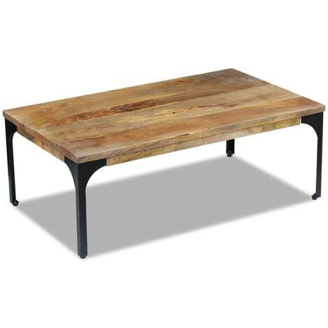 Coffee Table Mango Wood 100x60x35 cm - Brown