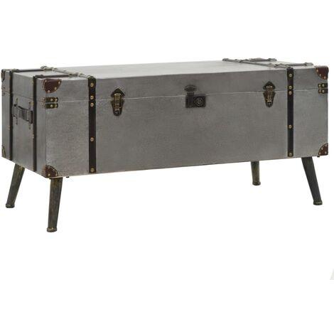 Coffee Table MDF and Aluminium 102x51x47.5 cm