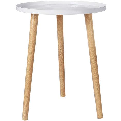 Coffee Table Sofa Side Table white 44x52cm