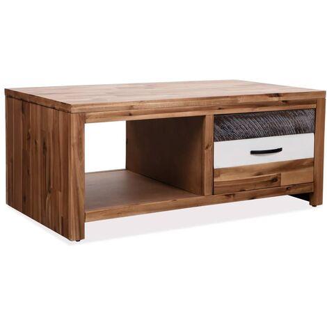 Coffee Table Solid Acacia Wood 90x50x37.5 cm