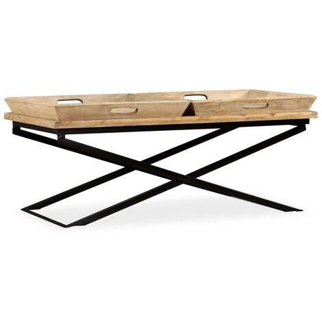 Coffee Table Solid Mango Wood 110x55x42 cm
