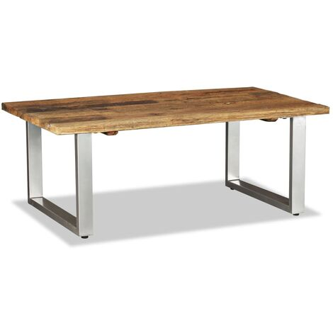 Coffee Table Solid Reclaimed Wood 100x60x38 cm
