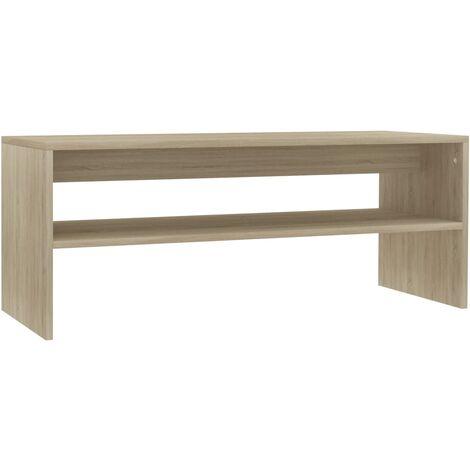 Coffee Table Sonoma Oak 100x40x40 cm Chipboard