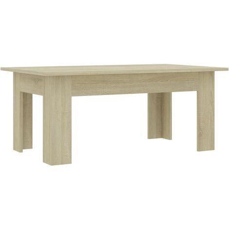 Coffee Table Sonoma Oak 100x60x42 cm Chipboard