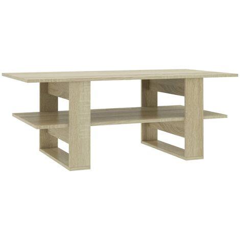 Coffee Table Sonoma Oak 110x55x42 cm Chipboard