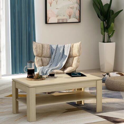 Coffee Table Sonoma Oak 110x60x47 cm Chipboard
