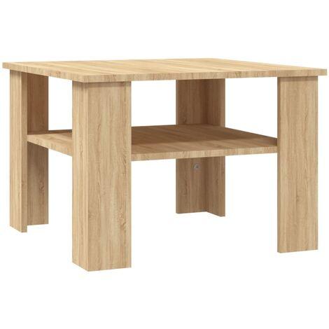 Coffee Table Sonoma Oak 60x60x42 cm Chipboard