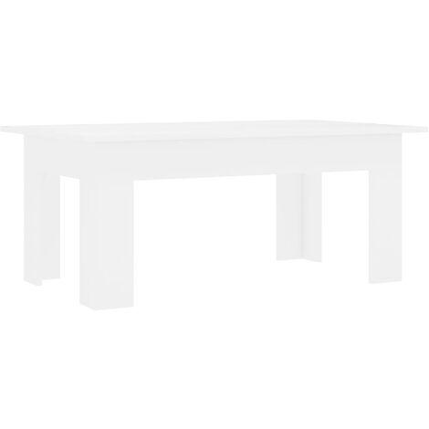 Coffee Table White 100x60x42 cm Chipboard