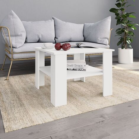 Coffee Table White 60x60x42 cm Chipboard
