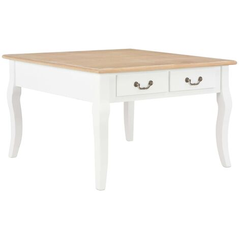 Coffee Table White 80x80x50 cm Wood