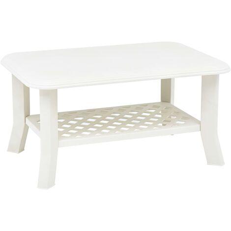 Coffee Table White 90x60x46 cm Plastic