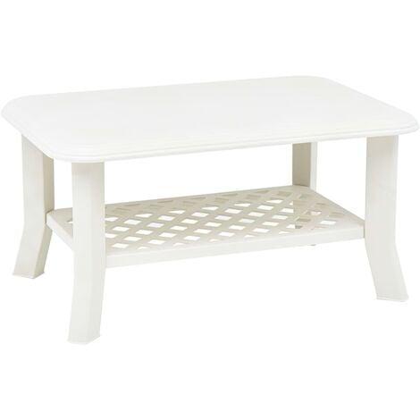 Coffee Table White 90x60x46 cm Plastic - White