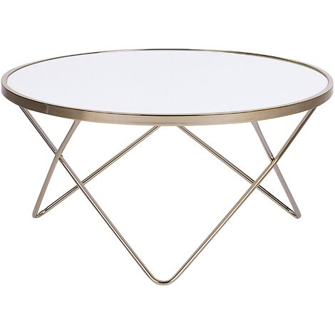Coffee Table White with Gold MERIDIAN II