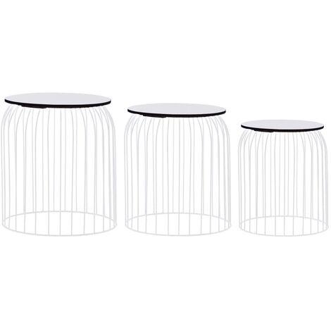 Coffee Tables 3 pcs White - White