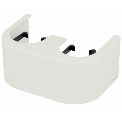 """main image of """"Coffrage design Simplex blanc pour bloc robinet bitube équerre"""""""