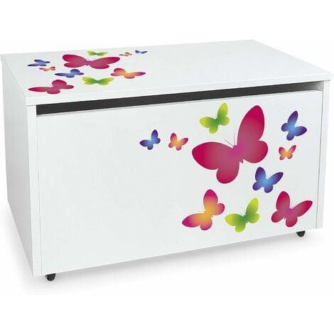 Coffre à jouets XXL sur roues: Papillons