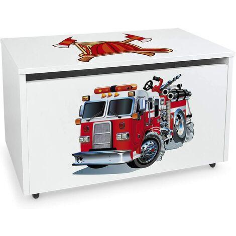 Coffre à jouets XXL sur roues: Pompiers