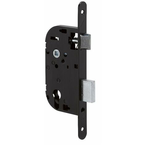 Coffre axe 40 NF métalux clé I droite noir EURO-ELZETT - sans gâche réversible - G838E077K4
