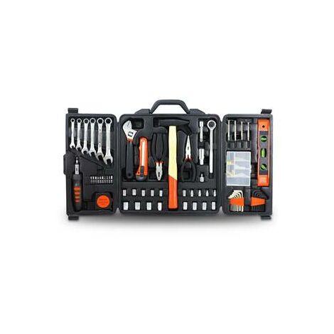 Coffre boite à outils 165 pieces - marteau pince tournevis complet