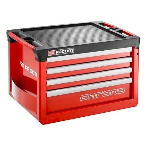 Coffre Chrono 4 tiroirs composé de 3 modules et tiroirs rouge 564.02