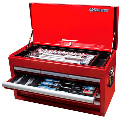 Coffre complet - 118 pièces - 307 x 374 x 660 mm