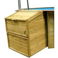 Coffre de filtration en bois pour piscine - Hauteur 1.20m