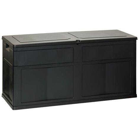"""main image of """"Coffre de Jardin 320 L TOOMAX 119 X 46 X 60 cm Noir Resine Anti UV Haute résistance gel et intempéries"""""""