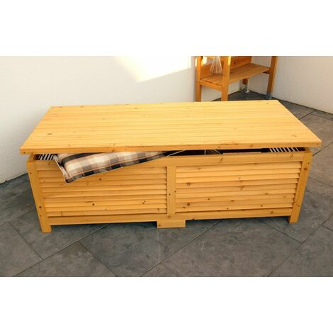 Coffre de jardin banc MARISOL bois poitrine 140cm