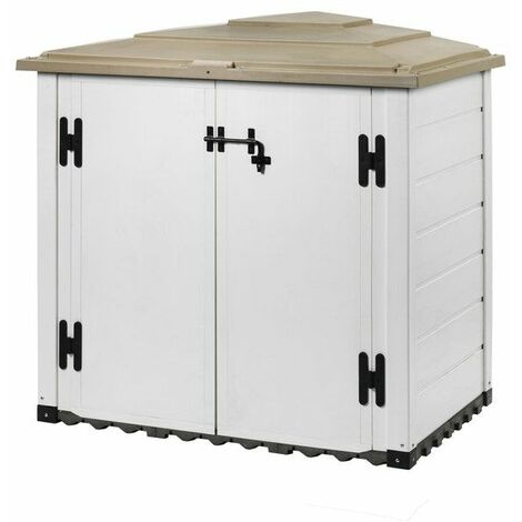 Coffre de jardin BOX EVO 100 résine capacité 1100 litres épaisseur 22 mm