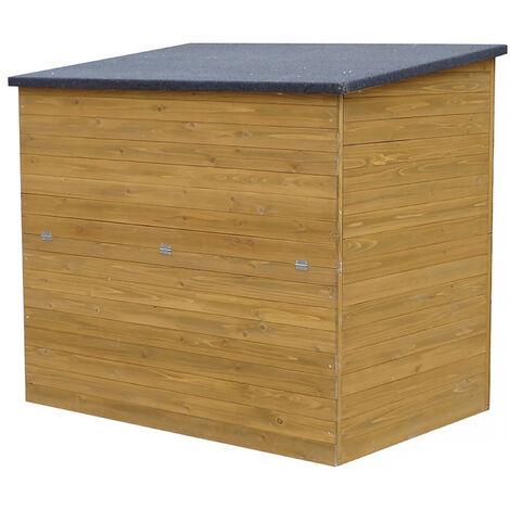 "Coffre de jardin en bois ""Caja"" - 137 x 91 x 121 cm - Marron"