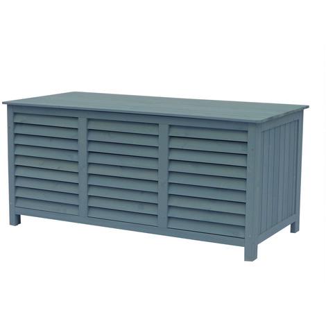 """Coffre de jardin en bois """"Macao"""" - 130 x 64 x 60 cm - Bleu ciel"""