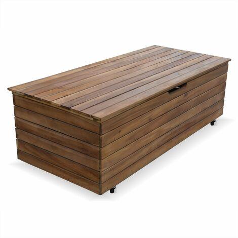 Coffre de jardin en bois - Saragosse - 110L, rangement coussins ...
