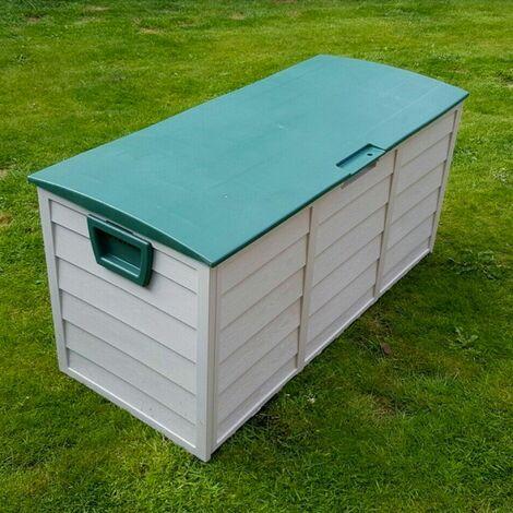 Coffre de Jardin Exterieur en plastique - Caisse de Rangement de Jardin - Coffre de Rangement en Plastique Idéal pour Stocker du Matériel de Jardinage