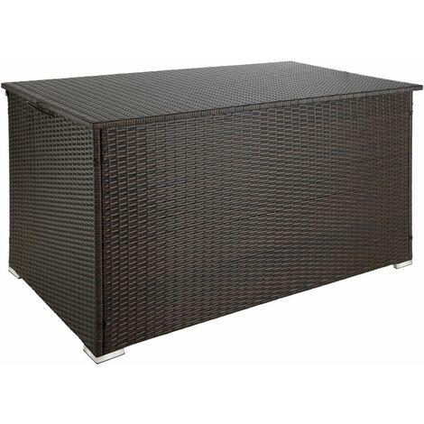 Coffre de jardin mobilier 145 cm marron - Marron