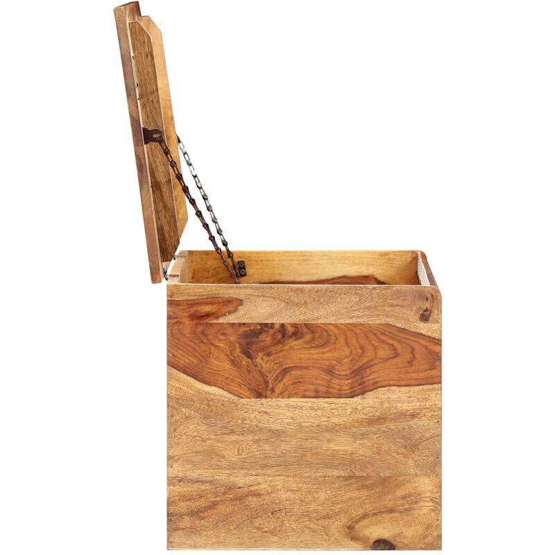 Coffre De Rangement 80 X 40 X 40 Cm Bois Massif De Sesham