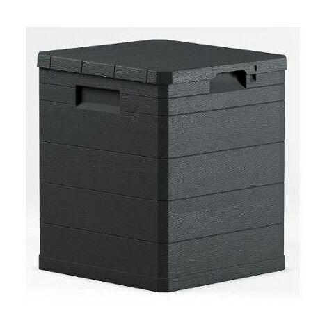 Coffre de rangement - 90 L - Plastique - Gris - Livraison gratuite