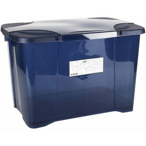 Coffre de rangement Clip'Box Eda - Bleu profond - 60 l