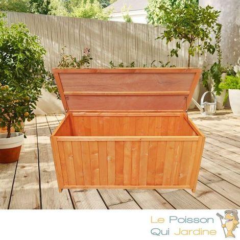Coffre De Rangement En Bois D Epicea Pour Jardin Longueur De 127 Cm Brun 9273