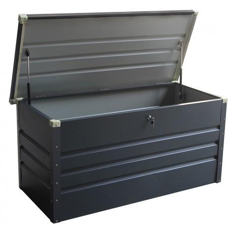 Coffre de rangement en métal anthracite 650L avec plancher X-METAL ...