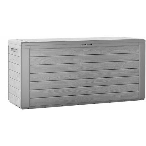 Coffre de rangement en plastique gris 120x46x57cm malle de stockage Coffre Woody