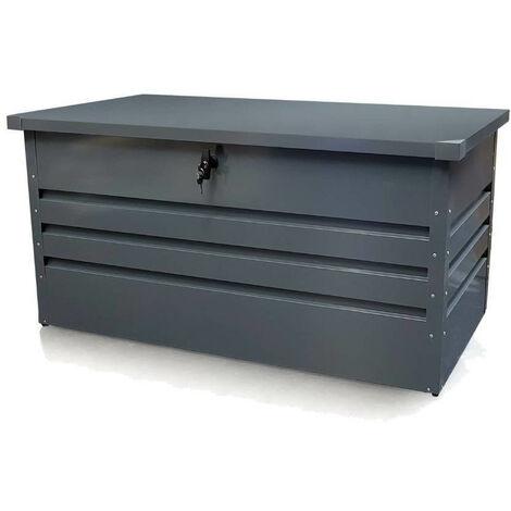 Coffre de rangement jardin en métal Gris 100 x 61 x 62