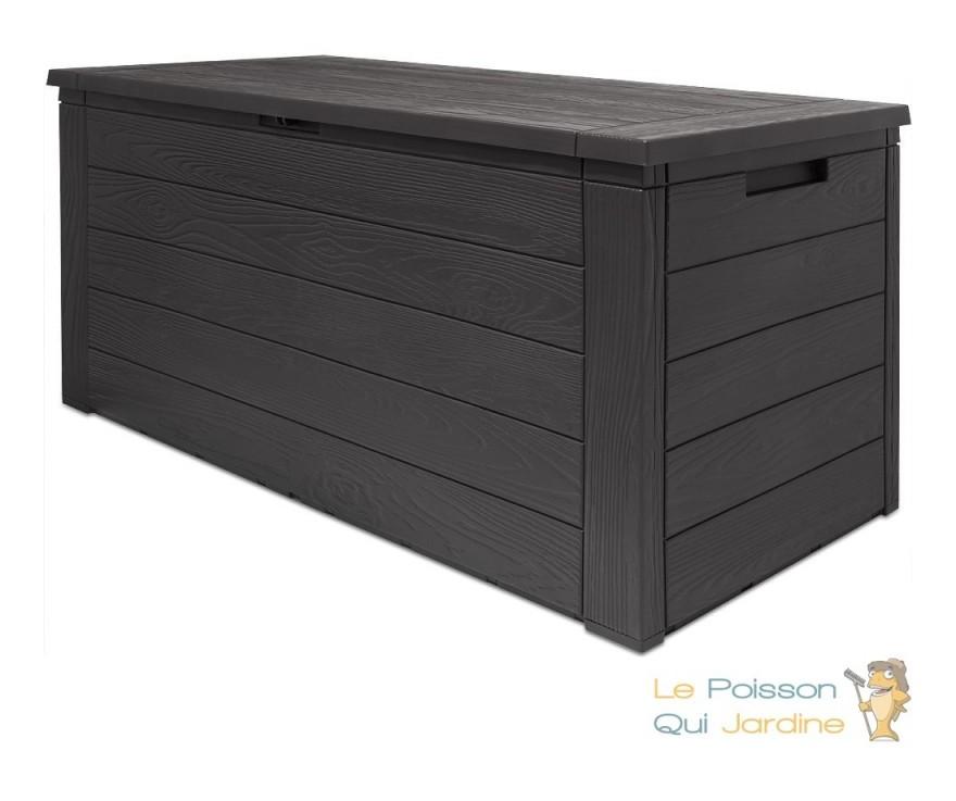 Coffre De Rangement Pour Jardin En Plastique Brun. 300 Litres - 8992