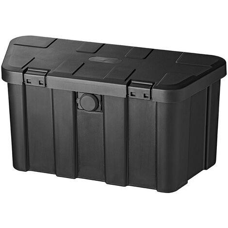 Coffre de rangement pour remorque en plastique 45L avec cadenas de combinaison de chiffres